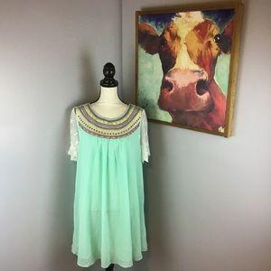 Umgee Embroidered Dress